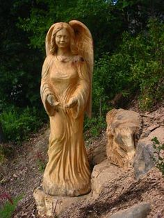 Giving Angel sculpture installed