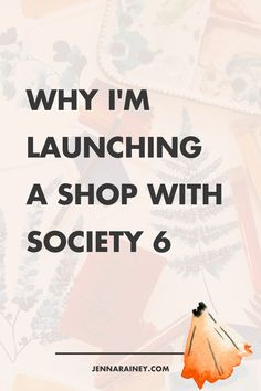 Why I'm launching a shop with society 6. I wanted to be able to offer a shop with art prints, pillow cases and more to YOU, I've been getting all the pieces together to launch a shop with Society6! Be sure to check it out!
