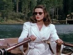Gene Tierney in Leave Her to Heaven. This is about as evil as it gets. She calmly sits in the boat and watches while her husband's little brother drowns in the lake. Chilling.