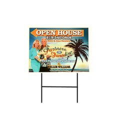 Full Color Corrugated Signs, Make sure the signs get noticed by adding full color. For promoting all businesses from yards to cars. Many stock choices available for your customer's needs. Includes 4 gauge step stake for yard / lawn use Includes the same imprint on both sides Printed with full color UV ink on white corrugated plastic Estimated outside wear of 6-9 months, estimated inside wear 3 years Available in quantities of 1, 5, or 10