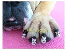 Dog nail art - cats