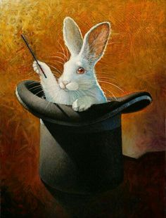 Put your hand inside the hat, search with your fingers. He is the light wrapped inside the darkness. That's the wonder of Rabbit. We think he's not in the hat. But he is. Mark Andrew Poe