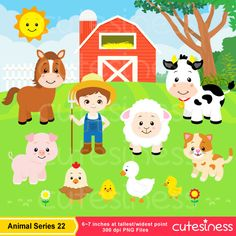 farm animal free printables farm animals digital clip art clipart rh pinterest com free farm animals clipart clipart pictures of farm animals