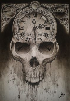 skull clock - Google Search Más