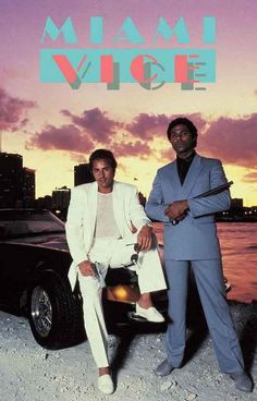Miami Vice Crockett and Tubbs TV Show Poster 11x17