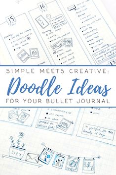 Simple bullet journal ideas for when you want to be creative but don't have much time! I combined simple weekly and daily layouts with tiny gratitude logs, journaling (mostly one-liners!) and little doodle art to remind me of self-care activities and creative projects.