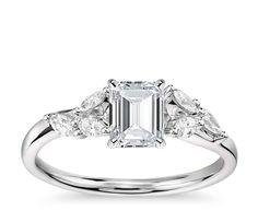 Monique Lhuillier Jardin Diamond Engagement Ring in Platinum (1/4 ct. tw.)