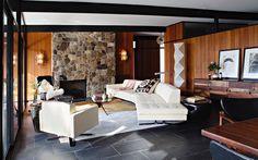 La Canada Flintridge mid-century house - living
