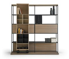 """A collection of mobile bookcases, bookcases, sideboards and TV benches inspired by the classic and legendary """"La Literatura"""" bookcase, designed in 1985 and winner of several prizes and awards, suc…"""