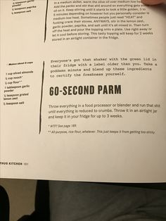 60-second parm Eating Vegan, Vegan Food, Healthy Food, Vegetarian Lunch, Vegan Dinners, Whole Food Recipes, Vegan Recipes, Thug Kitchen, Lunch Snacks