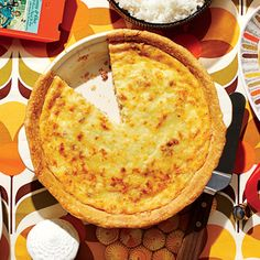 Fast and fancy, a quiche was featured in nearly every issue of the seventies, but none was more popular than Quiche Lorraine. Our favorite version, of course, uses bacon.