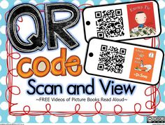 QR printable codes for the listening center tablets