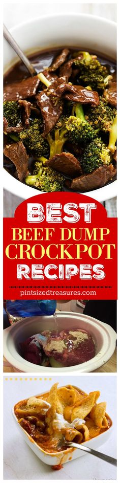 Super-easy, dee-lish recipes are on their way in this list of the very best beef dump crock pot recipes ever! You may want to smooch your crock-pot after you make these! @alicanwrite