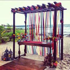 Rustic Chic Wedding Gazebo via Planner1 Events | Mexico ...