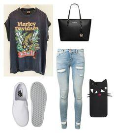 """""""school dayy"""" by vintage6739 on Polyvore featuring Off-White, Vans and Michael Kors"""