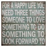 """Found it at Wayfair - """"For A Happy Life"""" Wall Décor"""