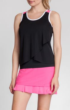 Love the criss-cross effect of the mesh overlay - makes this tank feel very stylish! #tennis