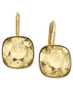 Swarovski Earrings, 22k Gold-Plated Sheena Drop Earrings