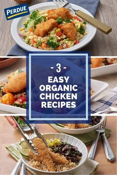 Add more organic meals into your diet with these delicious & unique recipes! Soup Recipes, Chicken Recipes, Healthy Recipes, Unique Recipes, Organic Recipes, Chicken And Brown Rice, Chicken Chunks, Organic Chicken, Breaded Chicken