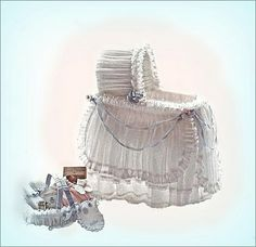 beautiful bassinet and accessories
