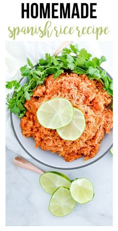 This homemade spanish rice is so delicous and full of flavor! The rich tomato flavor will keep you going back for more bite after bite! #easy #homemade #freezermeals #makeahead #spanishrice… Vegetarian Freezer Meals, Chicken Freezer Meals, Freezer Friendly Meals, Healthy Freezer Meals, Make Ahead Meals, Homemade Spanish Rice, Spanish Rice Recipe, Easy Weekday Meals, Rice Recipes