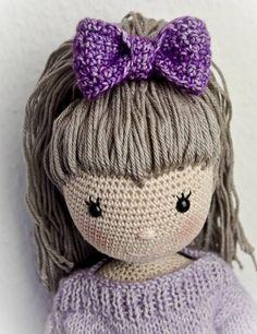 Doll Emily PDF manual by WolltastischHandmade on Etsy Knitted Dolls, Crochet Dolls, Crochet Baby, Knit Crochet, Amigurumi Patterns, Amigurumi Doll, Crochet Patterns, Crochet Classes, Crochet Projects