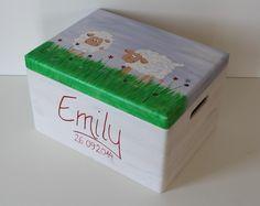 Kisten & Boxen - Spitzbub Erinnerungskiste - Schafe - ein Designerstück von Spitzbub bei DaWanda