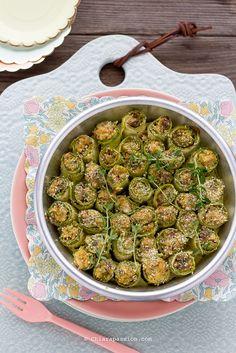 Finger food perfetto per buffet: involtini di zucchine e tonno. Si possono preparare il giorno prima e mangiare freddi.