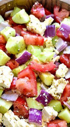 Tomato, Cucumber & Feta Salad