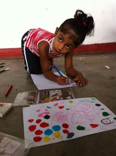 A young little artist expressing her creative self in Sri Lanka