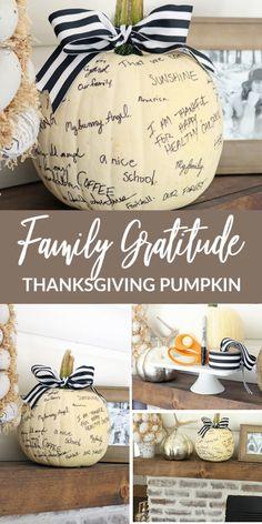 Family Gratitude Thanksgiving Pumpkin!