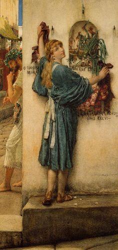 """""""A Street Altar"""", 1883, by Sir Lawrence Alma-Tadema (Dutch, 1836-1912)."""