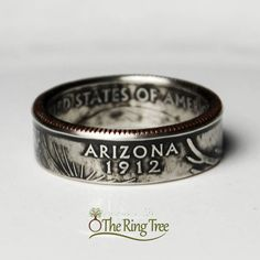 Arizona Quarter Ring by TheRingTree on Etsy