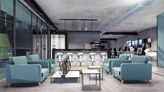 Cozinha destinada às pessoas que trabalham nas startups do Edifício Hub Blue - Estação Sapucaí. Usou-se tonalidades azuis junto ao cimento queimado, com mobiliários diversificados!   Interessado em dar uma inovada na sua casa, comércio ou escritório? Entre já em contato com a gente e peça seu orçamento! Email e números de contato na bio!   #arquitetura #architecture #interior #design #decoracao #designdeinteriores #reforma #archilovers #arquiteturaurbanismo #cozinha