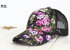 77a1994231e 2016 hot sale female floral baseball hat for women spring and summer casual  cap girls sun