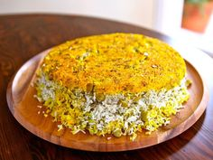 Persian Rice with Dill and Lima Beans Tahdig