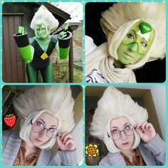 "Quick reminder that there is a tutorial for my Peridot wig!  http://ift.tt/1ZIdZvR  Can't copy the link? Just go on my tumblr and click ""tutorials"" on the listed links!  #StevenUniverse #stevenuniversecosplay #cosplay #peridotcosplay #peridot #stevenuniverseperidot #superidot #peridotsu #wig #cosplaywig #tutorial #cosplaytutorial"