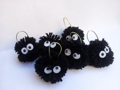 6 TOTORO SOOT SPRITES christmas ornament tree (includes 6 Units)