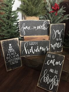 Are you searching for inspiration for farmhouse christmas decor? Browse around this site for perfect farmhouse christmas decor pictures. This kind of farmhouse christmas decor ideas seems completely brilliant. Noel Christmas, Diy Christmas Gifts, Rustic Christmas, Christmas Projects, Winter Christmas, Holiday Crafts, Christmas Ideas, Merry Christmas Signs, Etsy Christmas