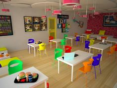 Breakout area brings out the fun within your workplace environment. The pink colour feature lights are special. #breakoutarea#canteendesign#colourfulconcept#colourfulfurniture#lighting#walldecore#relaxing#workplace#canteeninterior#interiordesign#designideas#designconcept#interiorideas
