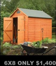 Garden Sheds, Greenhouse,  Outdoor buildings, FREE shipping, No Sales Tax, No Interest Financing, ADD to Amazon cart for DEALS