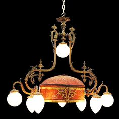 French Rococo, Chandelier, Electric Company, Ceiling Lights, Antique, Etsy, Home Decor, Candelabra, Decoration Home