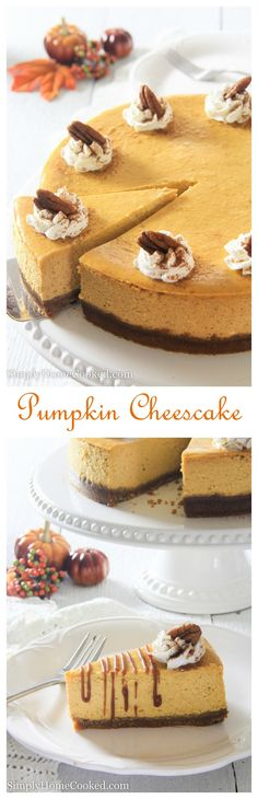 Pumpkin Cheesecake. #autumn #Halloween #Thanksgiving