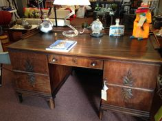 Absolutely Fabulous this desk. Top is made of the expansive Coromandel wood, sold by the kilo.