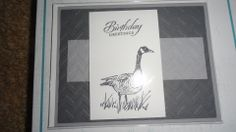 Love the goose.  Perfect men's card.