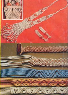 How To Macrame - tutorial and how to do it Collar Macrame, Macrame Colar, Macrame Art, Macrame Projects, Macrame Necklace, Macrame Knots, Macrame Jewelry, Macrame Bracelets, Viking Knit
