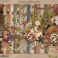 Taking you back to those sweet Christmas memories of long ago or just enjoying the traditional style, this kit is perfect for your holiday moments