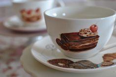 tazze da colazione con dolci