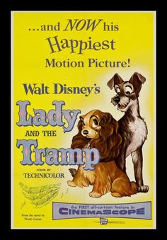 Lady and the Tramp Movie Poster 1955