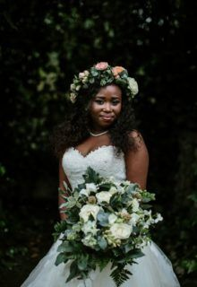 A stunning combination of black, green & gold – with pop of blush, worked so well . April Wedding, Flower Decorations, Green And Gold, Special Day, One Shoulder Wedding Dress, Nostalgia, Blush, Couples, Wedding Dresses